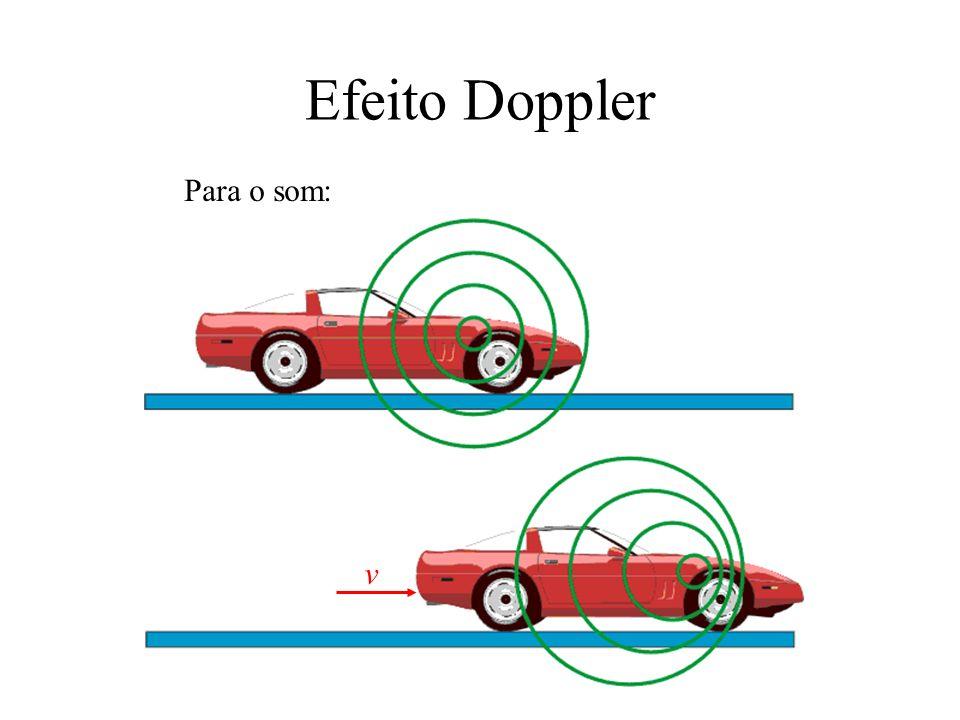Efeito Doppler Para o som: v