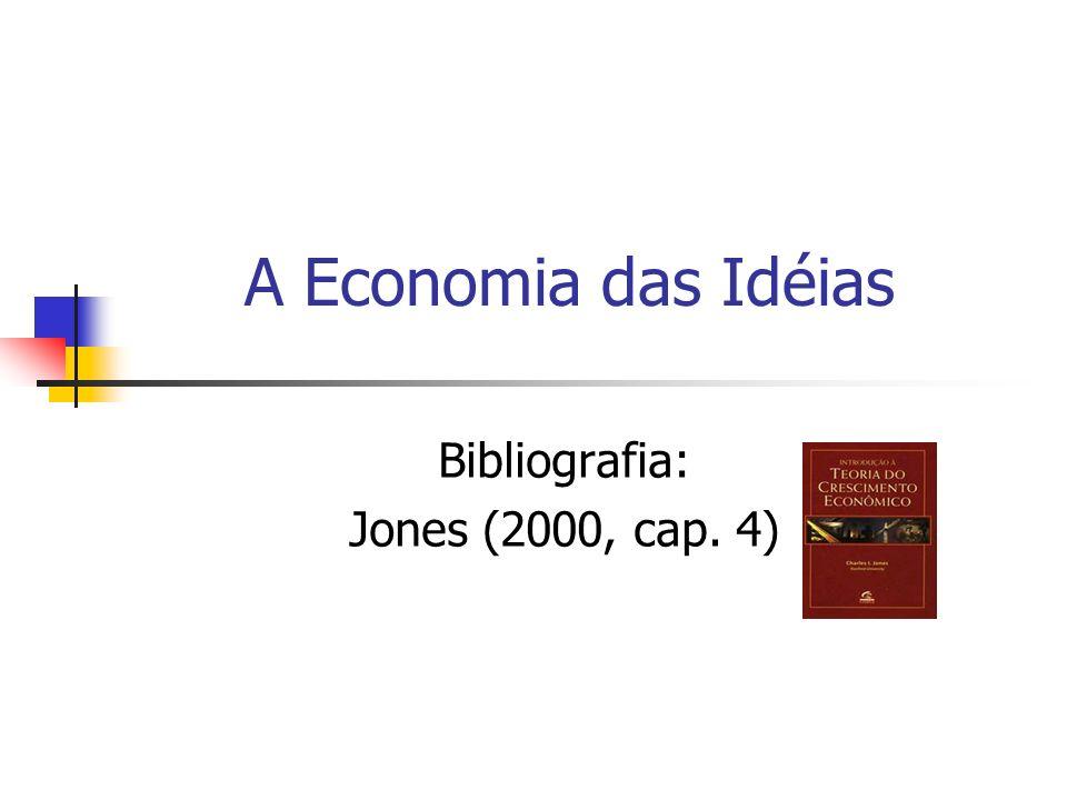 A Economia das Idéias Bibliografia: Jones (2000, cap. 4)