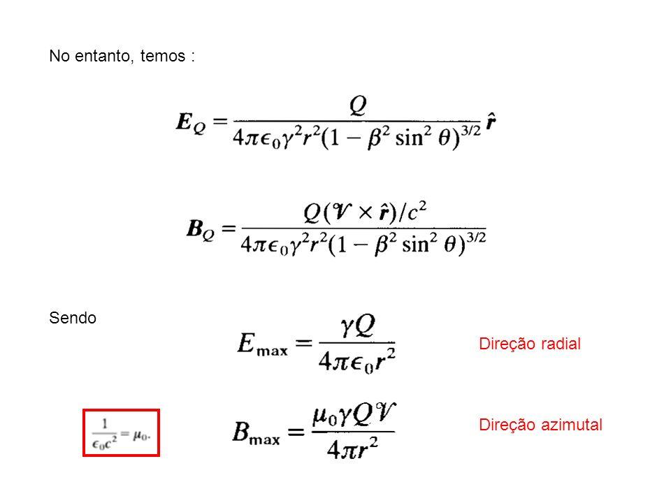 No entanto, temos : Sendo Direção radial Direção azimutal