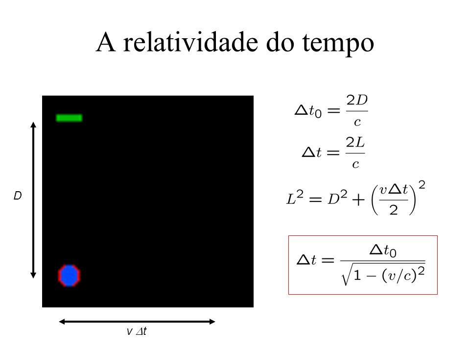 A relatividade do tempo D v t