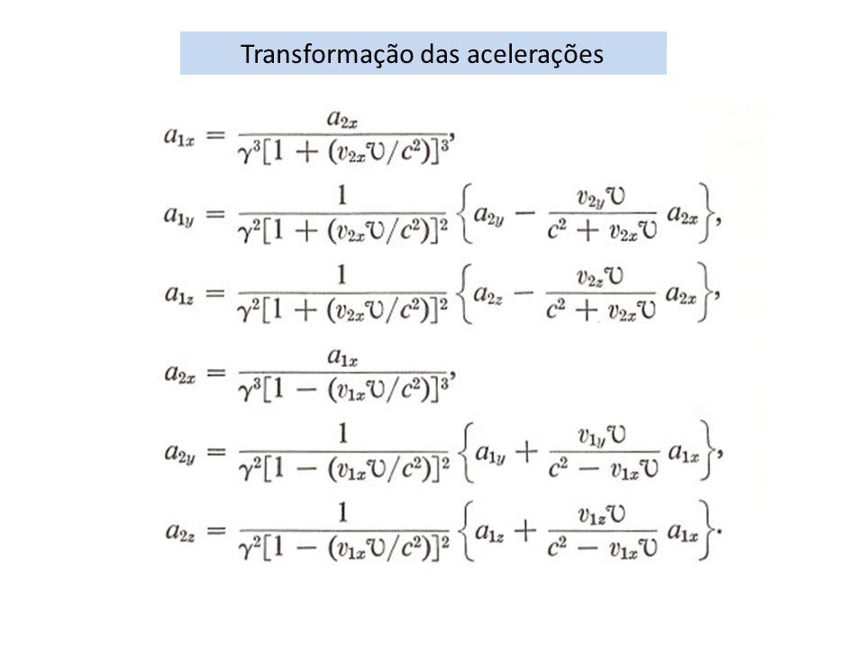 Transformação das acelerações