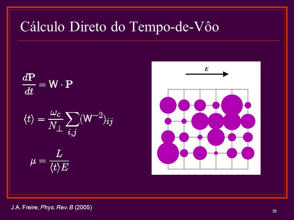 39 Cálculo Direto do Tempo-de-Vôo J.A. Freire, Phys. Rev. B (2005)