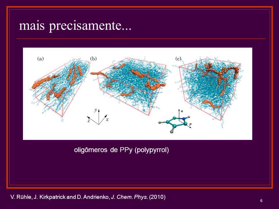 6 mais precisamente... V. Rühle, J. Kirkpatrick and D. Andrienko, J. Chem. Phys. (2010) oligômeros de PPy (polypyrrol)