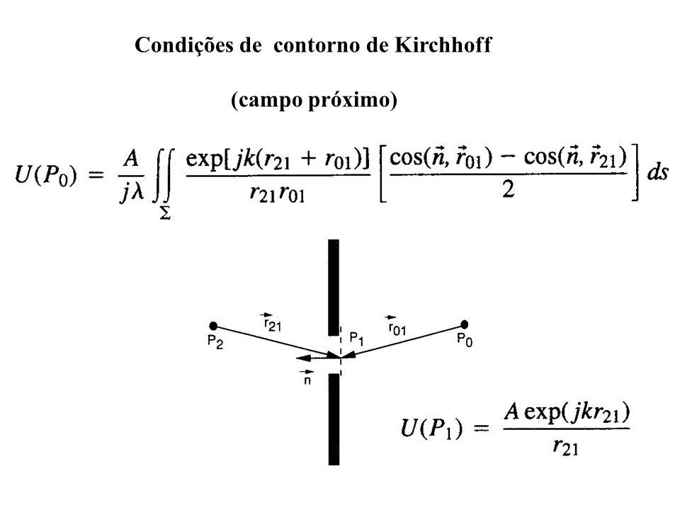 Condições de contorno de Kirchhoff (campo próximo)