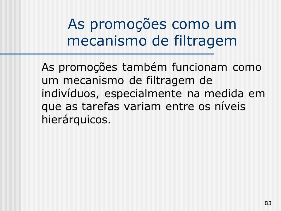 83 As promoções como um mecanismo de filtragem As promoções também funcionam como um mecanismo de filtragem de indivíduos, especialmente na medida em