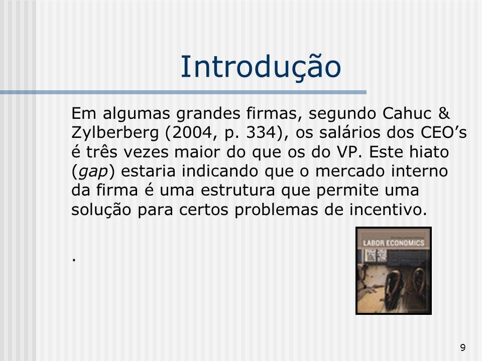 10 Introdução Assim, segundo Cahuc & Zylberberg (2004, p.
