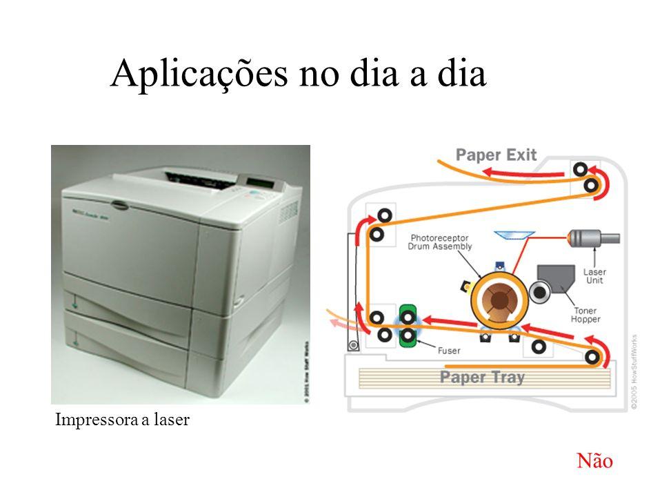Aplicações no dia a dia Impressora a laser Não
