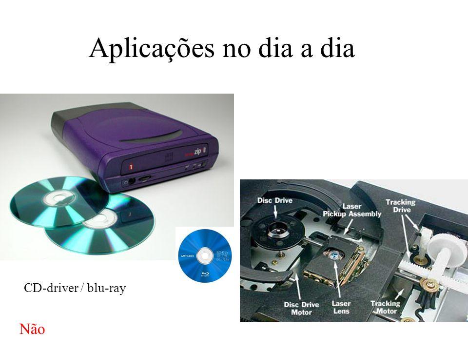 Aplicações no dia a dia CD-driver / blu-ray Não