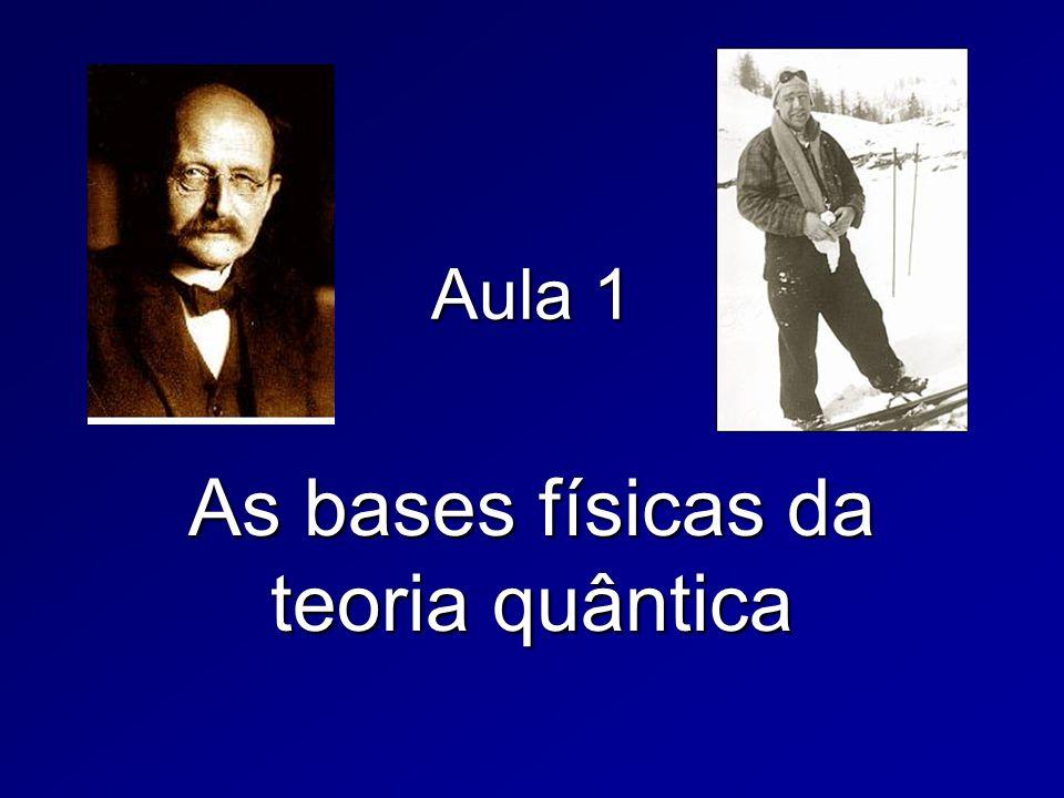 Aula 1 As bases físicas da teoria quântica