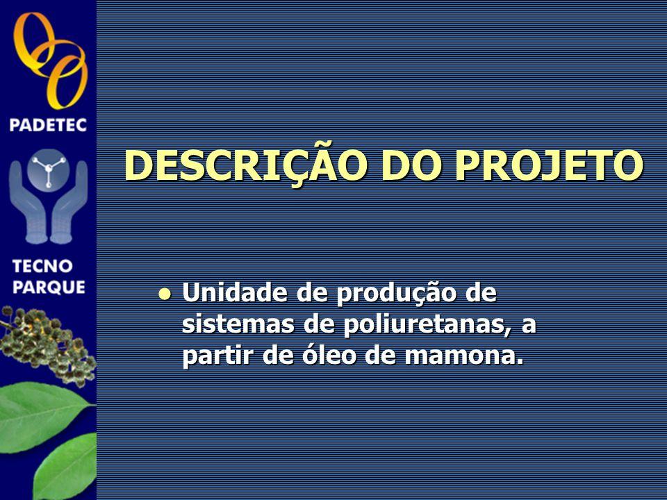 Unidade de produção de sistemas de poliuretanas, a partir de óleo de mamona. Unidade de produção de sistemas de poliuretanas, a partir de óleo de mamo