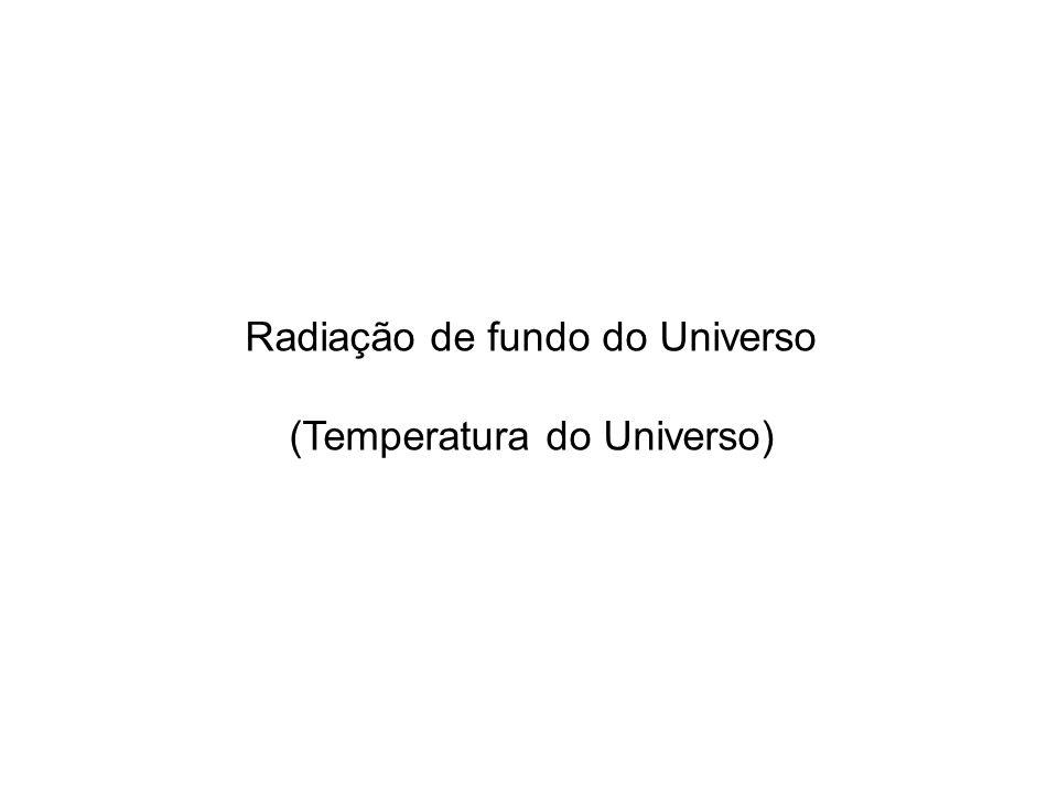Radiação de fundo do Universo (Temperatura do Universo)