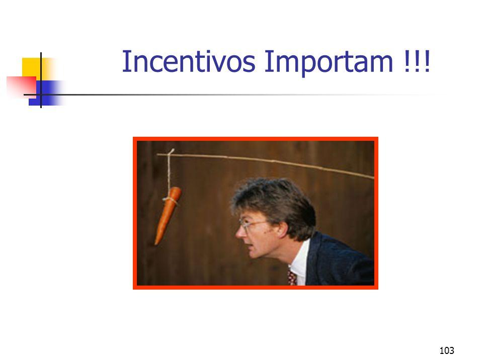 103 Incentivos Importam !!!