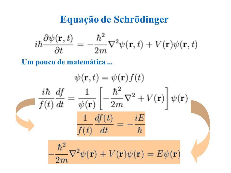 Equação de Schrödinger Um pouco de matemática...