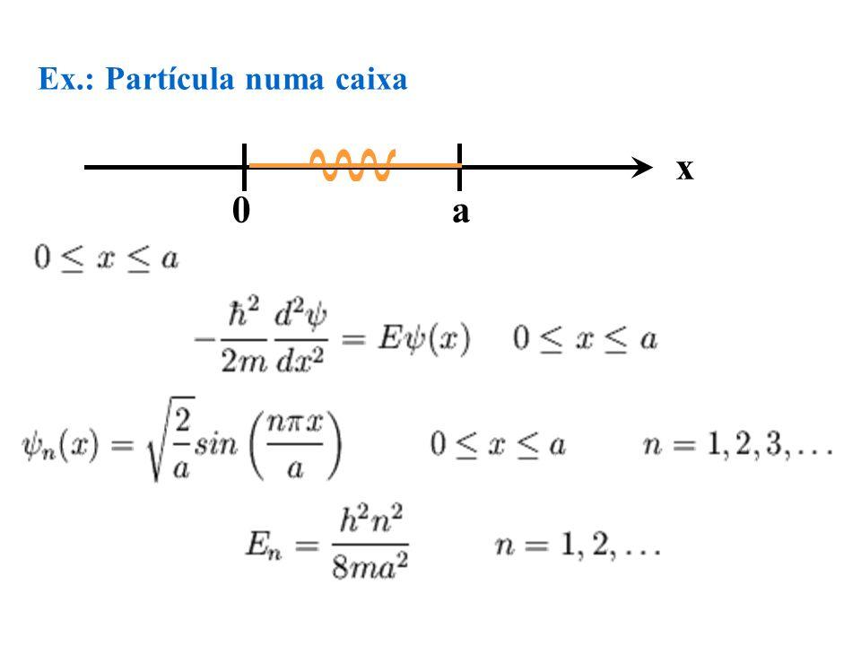 Ex.: Partícula numa caixa 0 a x