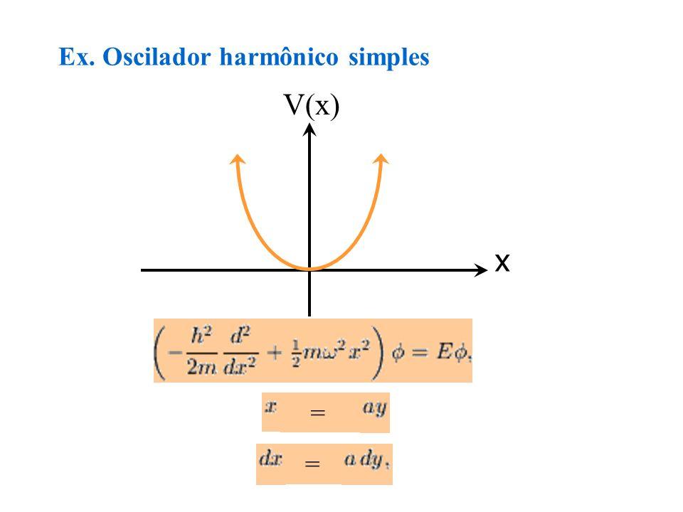 Ex. Oscilador harmônico simples V(x) x = =