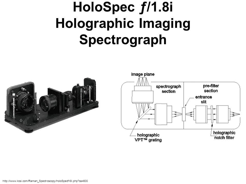 HoloSpec ƒ/1.8i Holographic Imaging Spectrograph http://www.kosi.com/Raman_Spectroscopy/holoSpecf18i.php?ss=600