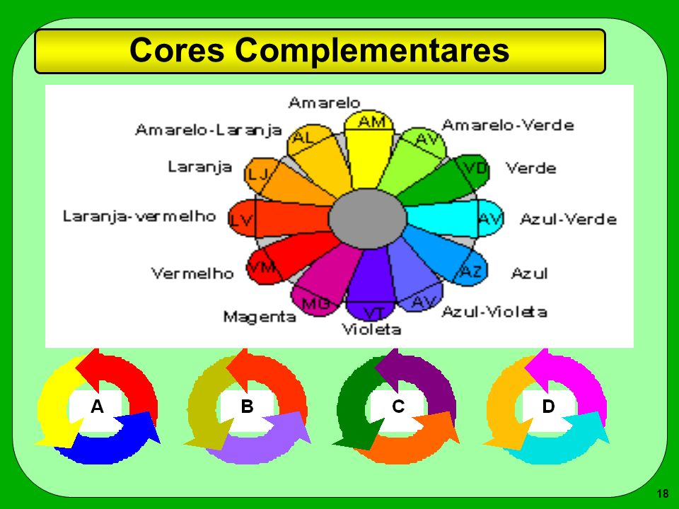 18 Cores Complementares