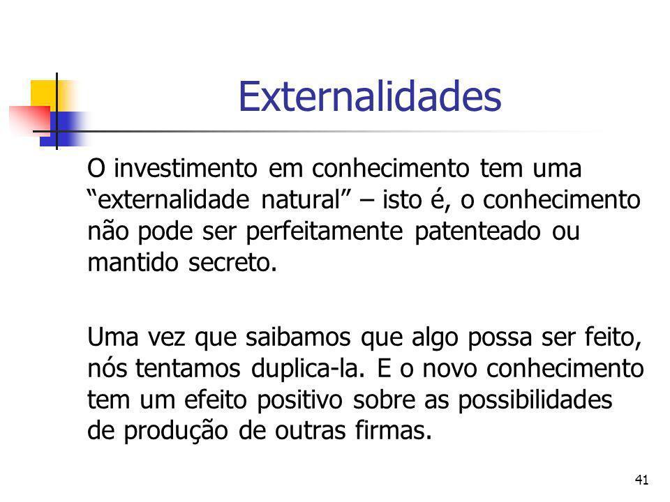 40 Economia das Idéias Os bens que são excluíveis permitem a seus produtores captar os benefícios que geram; os bens não excluíveis envolvem substânci