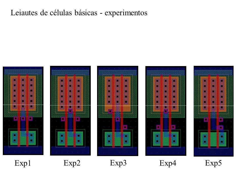 Leiautes de células básicas - experimentos Exp1 Exp2 Exp3 Exp4 Exp5