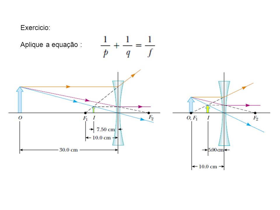 Aplique a equação :
