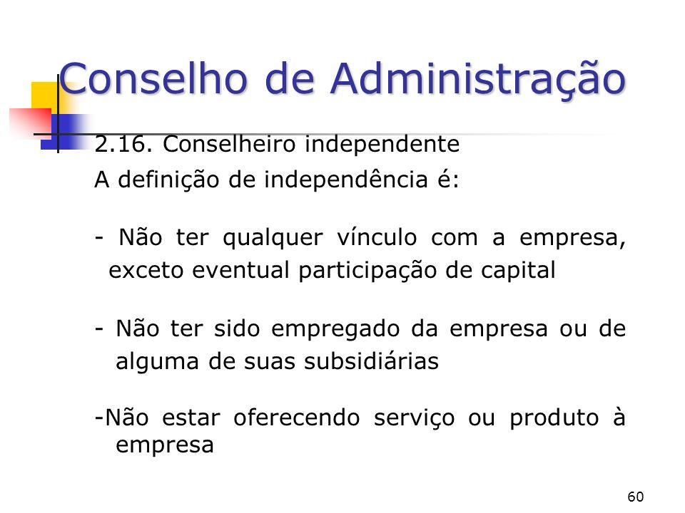 60 Conselho de Administração 2.16.