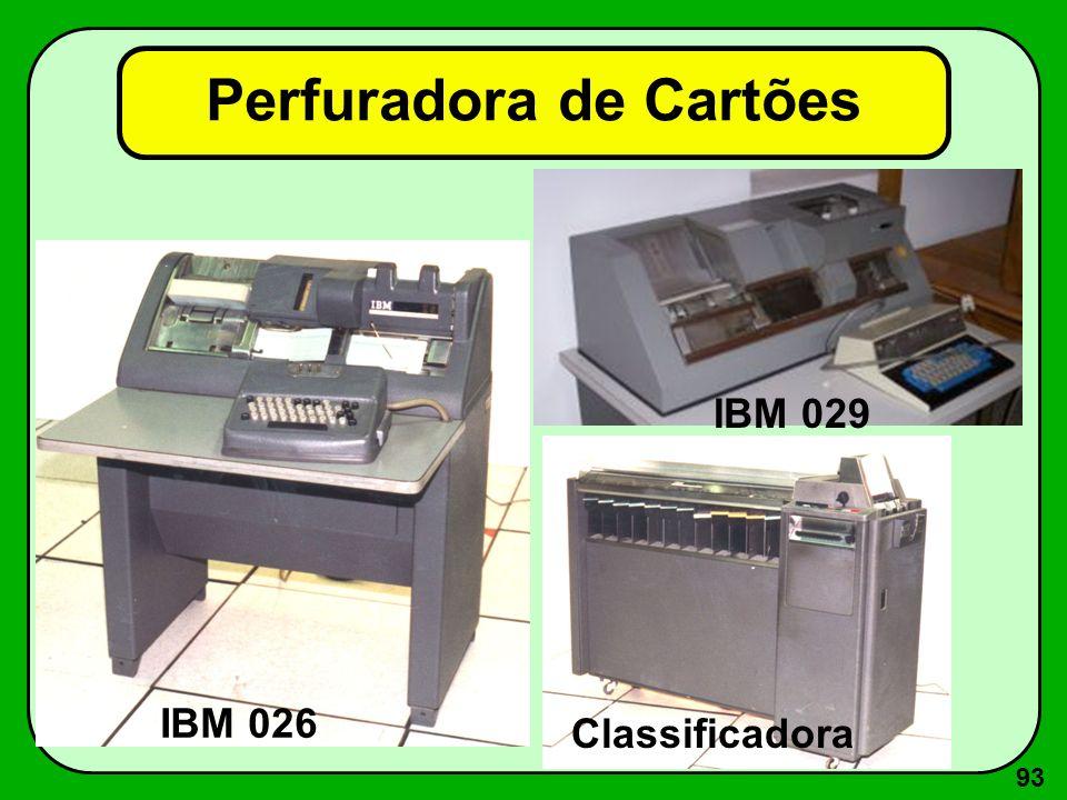 93 Perfuradora de Cartões IBM 026 IBM 029 Classificadora