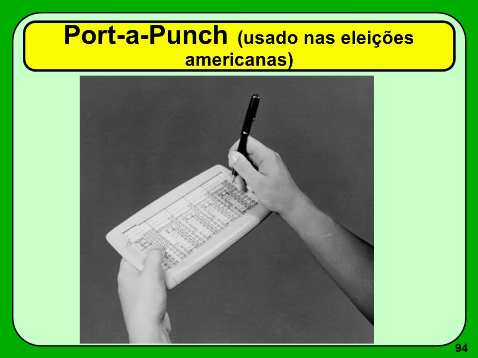 94 Port-a-Punch (usado nas eleições americanas)