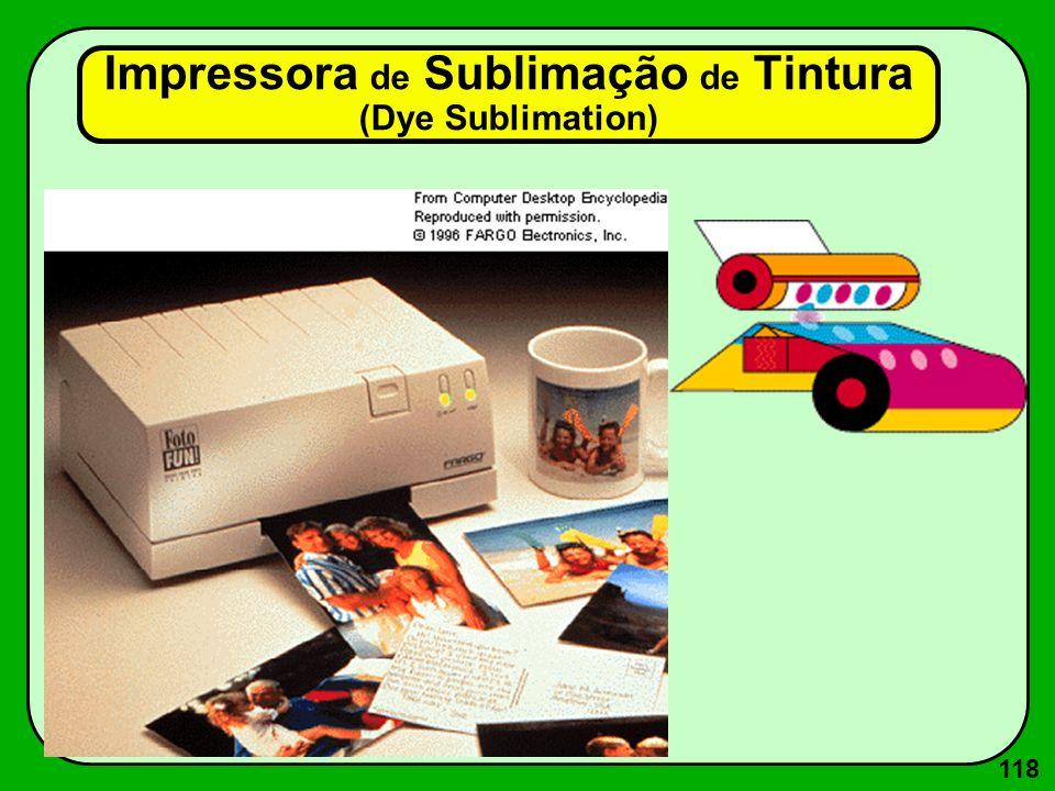 118 Impressora de Sublimação de Tintura (Dye Sublimation)