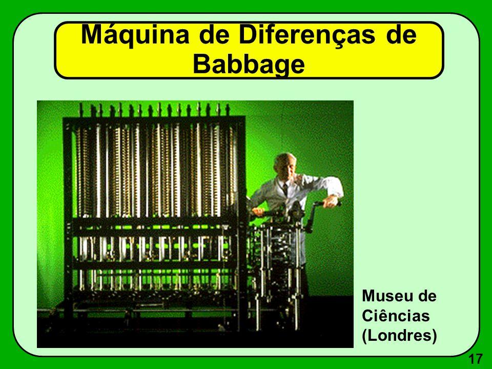 17 Máquina de Diferenças de Babbage Museu de Ciências (Londres)
