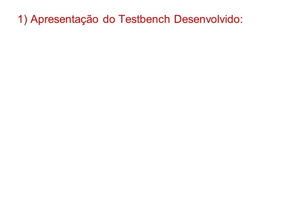 1) Apresentação do Testbench Desenvolvido: