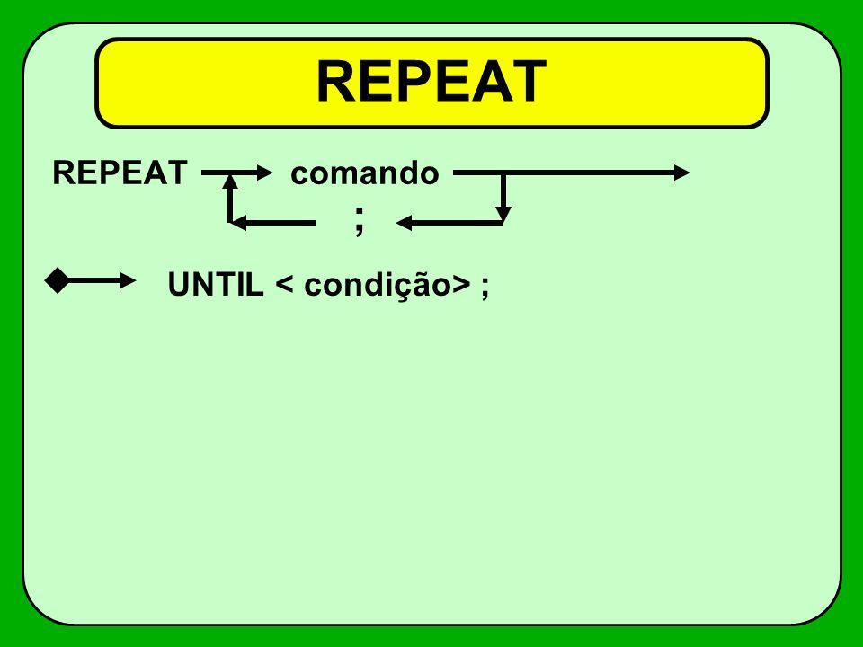 Tabelas (Arrays, Matrizes, Vetores) variável: ARRAY [1..n] of tipo;