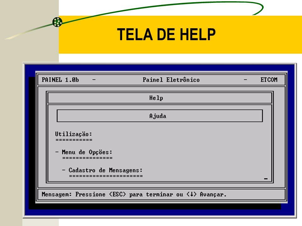 TELA DE HELP