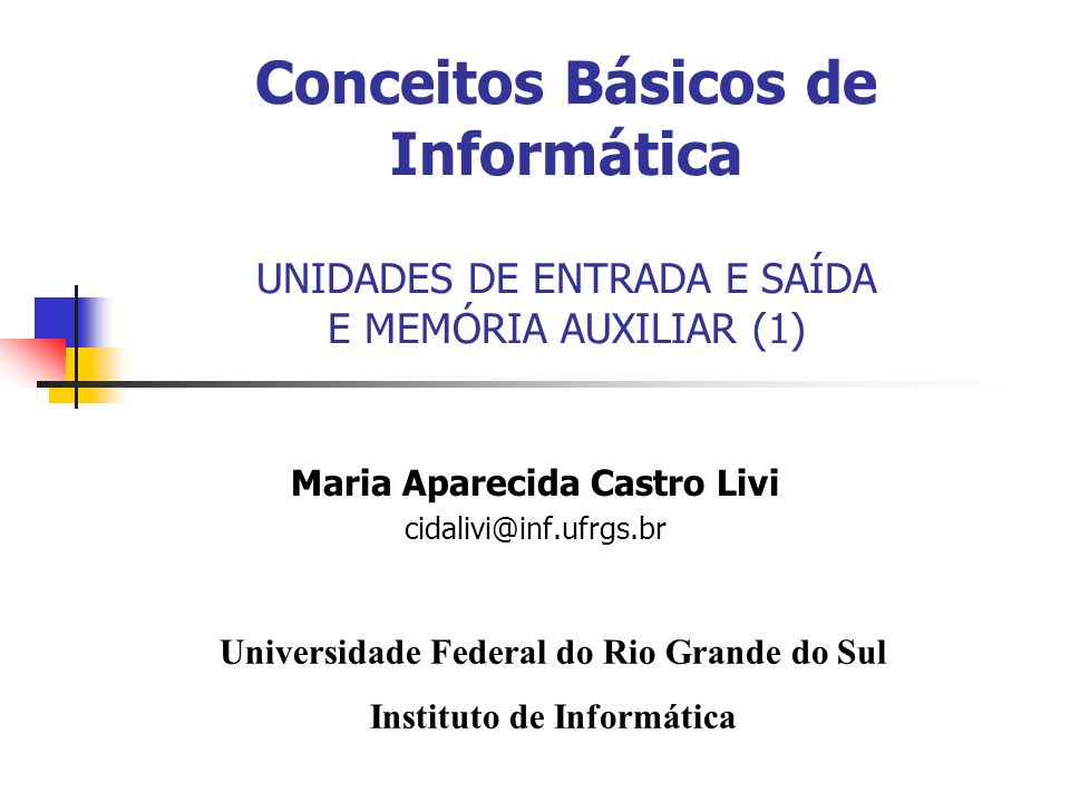II - UFRGS – Prof.