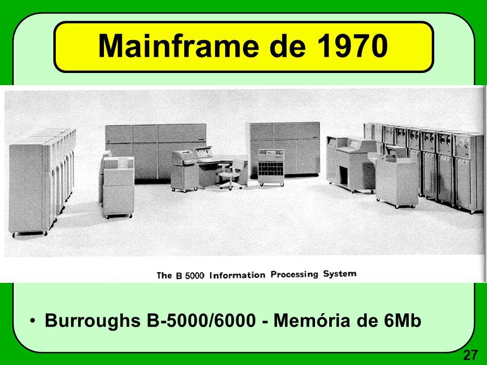 27 Mainframe de 1970 Burroughs B-5000/6000 - Memória de 6Mb