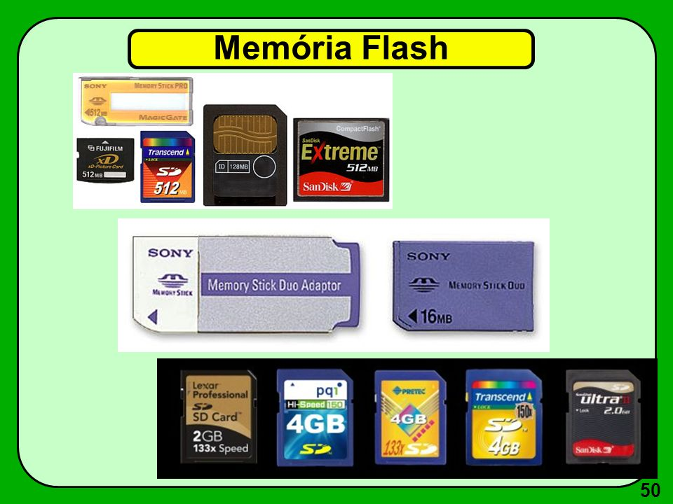 50 Memória Flash