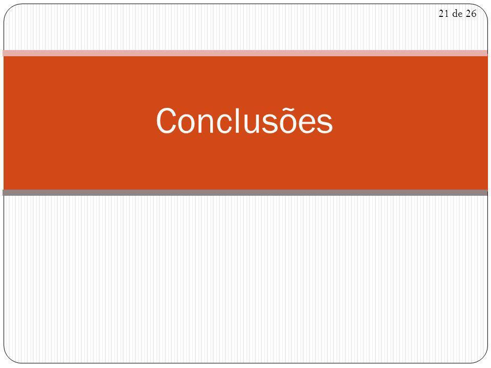 Conclusões 21 de 26