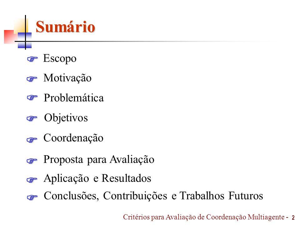 Coordenação – Com Comunicação 33 Tomada de decisão individual para escolha do esquema tático.