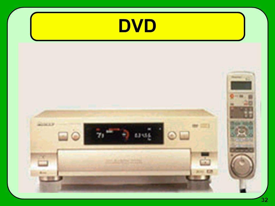31 DVD (Digital Versatile Disk) Vantagens –excelente qualidade do visual produzido –uso de cores –movimentação –permite saltos e busca de trechos espe