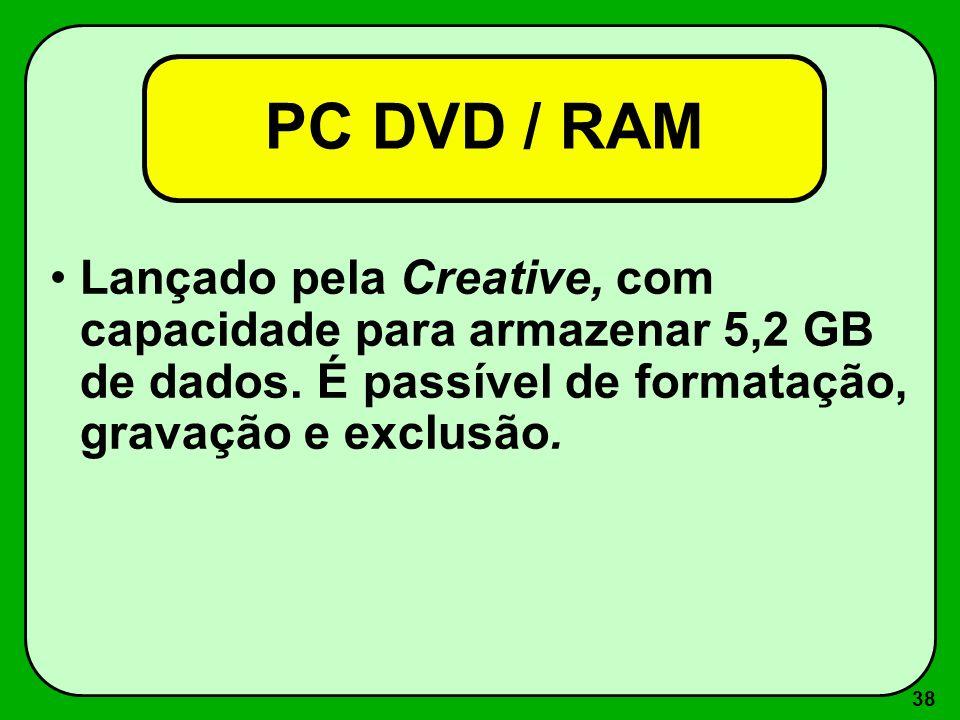 37 DVD / Som O Som do DVD é dolby digital, com qualidade comparável a do CD, mas com uma grande vantagem: enquanto o CD tem 2 canais estéreo, o DVD co