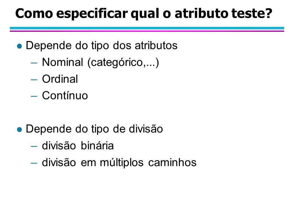 Como especificar qual o atributo teste.