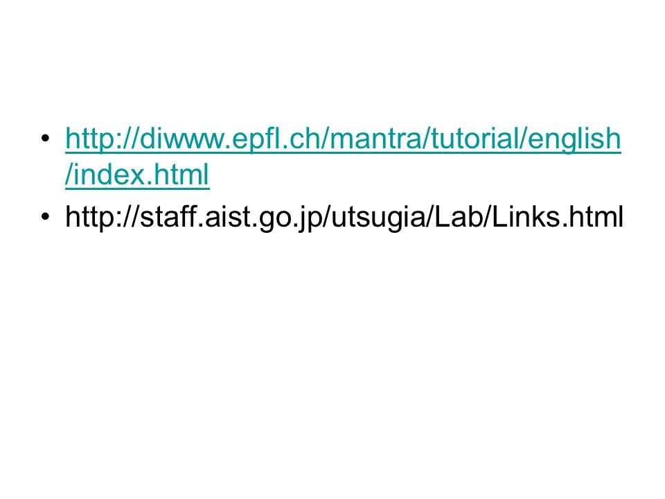 http://diwww.epfl.ch/mantra/tutorial/english /index.htmlhttp://diwww.epfl.ch/mantra/tutorial/english /index.html http://staff.aist.go.jp/utsugia/Lab/L