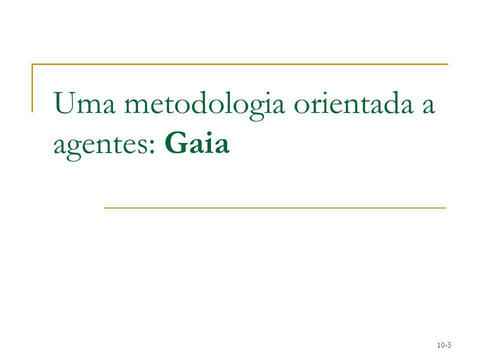 10-5 Uma metodologia orientada a agentes: Gaia