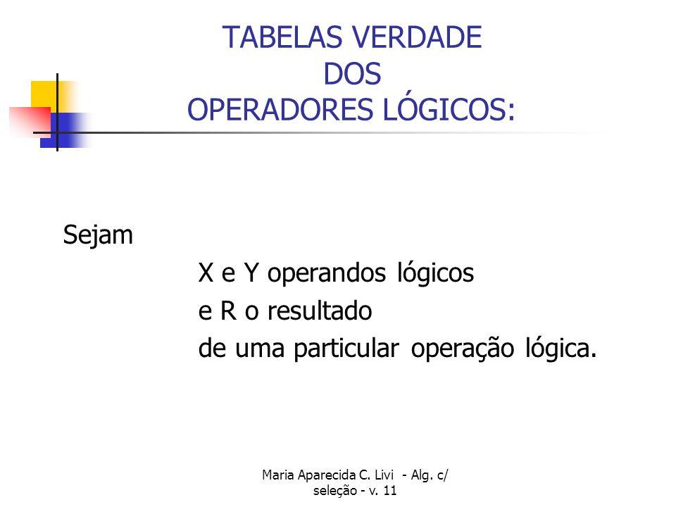 Maria Aparecida C.Livi - Alg. c/ seleção - v.