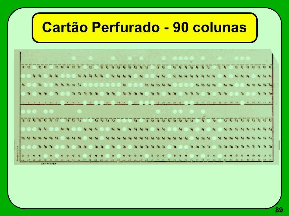 89 Cartão Perfurado - 90 colunas