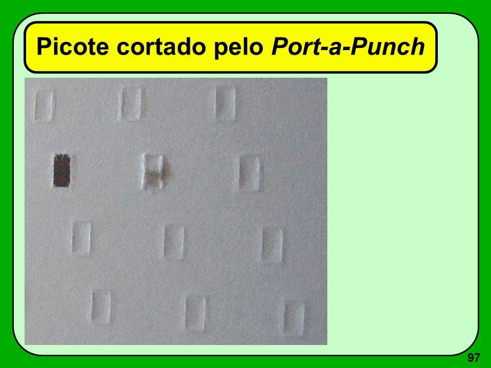 97 Picote cortado pelo Port-a-Punch