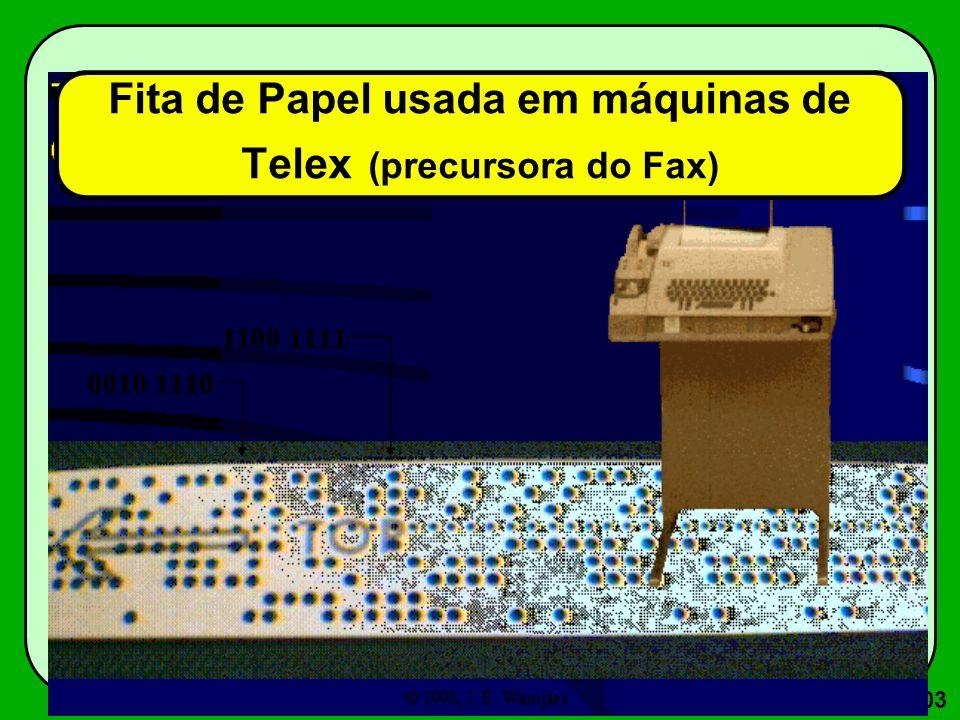 103 Fita de Papel usada em máquinas de Telex (precursora do Fax)