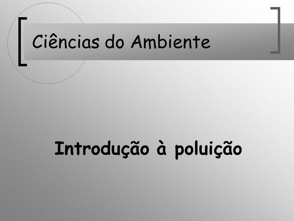 Introdução à poluição Ciências do Ambiente