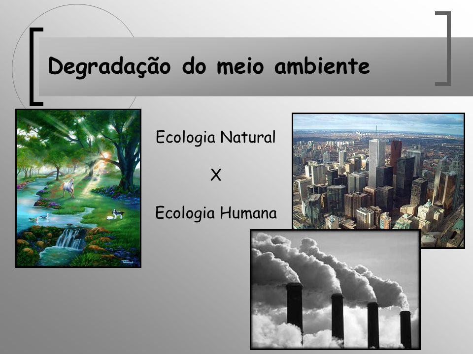 Degradação do meio ambiente Ecologia Natural X Ecologia Humana