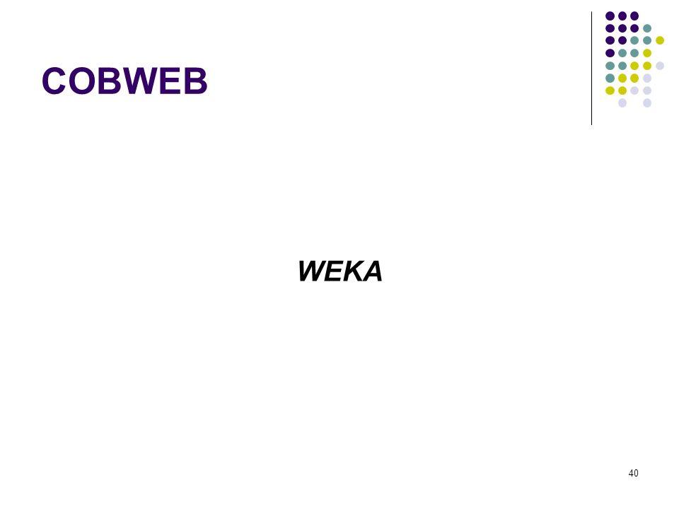 COBWEB WEKA 40