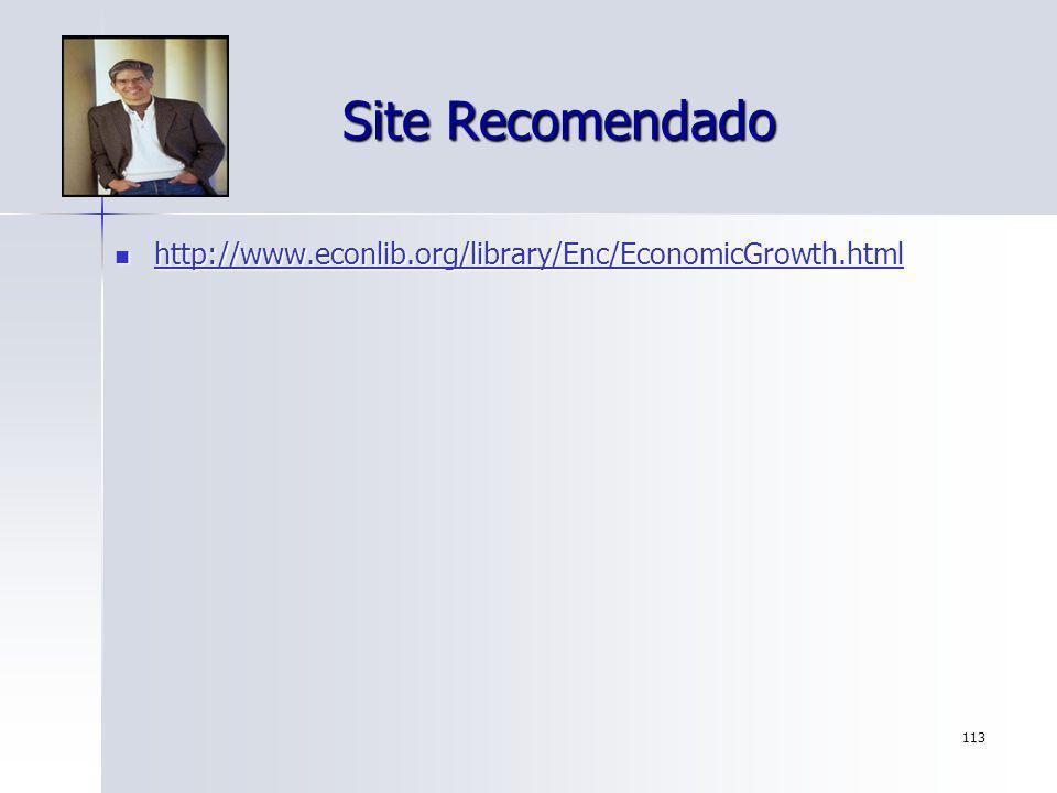 113 Site Recomendado http://www.econlib.org/library/Enc/EconomicGrowth.html http://www.econlib.org/library/Enc/EconomicGrowth.html http://www.econlib.